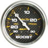 "Autometer Carbon Fiber Mechanical Boost / Vacuum gauge 2 5/8"" (66.7mm)"