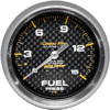 Autometer Carbon Fiber Mechanical Fuel Pressure gauge 2 5/8