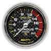 Autometer Carbon Fiber Mechanical Nitrous Pressure gauge 2 1/16