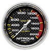 Autometer Carbon Fiber Mechanical Nitrous Pressure gauge 2 5/8