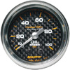 "Autometer Carbon Fiber Mechanical Oil Pressure gauge 2 1/16"" (52.4mm)"