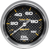 """Autometer Carbon Fiber Mechanical Oil Pressure gauge 2 5/8"""" (66.7mm)"""