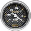 "Autometer Carbon Fiber Mechanical Vacuum gauge 2 1/16"" (52.4mm)"