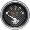 "Autometer Carbon Fiber Short Sweep Electric Fuel Level gauge 2 1/16"" (52.4mm)"