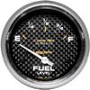 "Autometer Carbon Fiber Short Sweep Electric Fuel Level gauge 2 5/8"" (66.7mm)"