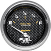 "Autometer Carbon Fiber Short Sweep Electric Fuel Level gauge 2 5/8"" (66.7mm)"