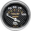 """Autometer Carbon Fiber Short Sweep Electric Oil Pressure gauge 2 1/16"""" (52.4mm)"""