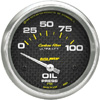 """Autometer Carbon Fiber Short Sweep Electric Oil Pressure gauge 2 5/8"""" (66.7mm)"""