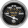 "Autometer Carbon Fiber Short Sweep Electric Oil Temperature gauge 2 1/16"" (52.4mm)"