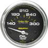 "Autometer Carbon Fiber Short Sweep Electric Oil Temperature gauge 2 5/8"" (66.7mm)"