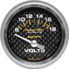 """Autometer Carbon Fiber Short Sweep Electric Voltmeter gauge 2 1/16"""" (52.4mm)"""