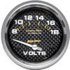"""Autometer Carbon Fiber Short Sweep Electric Voltmeter gauge 2 5/8"""" (66.7mm)"""