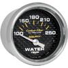 "Autometer Carbon Fiber Short Sweep Electric Water Temperature gauge 2 1/16"" (52.4mm)"