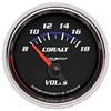 "Autometer Cobalt Short Sweep Electric Voltmeter gauge 2 1/16"" (52.4mm)"