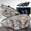 Spec-D Tuning Halo Projector Headlights Chrome - RSX 02-04
