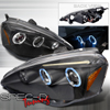 Spec-D Tuning Halo Projector Headlights Black - RSX 02-04