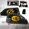 Spec-D Tuning JDM Style Fog Lights Kit Yellow - RSX 05-07
