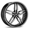 "Zinik Z30 17"" Machined w/Black Accent Rims Set of 4 - RSX 2005-2006"